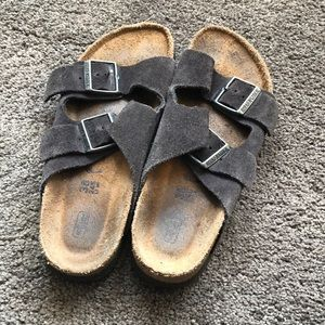 dark grey birkenstock's